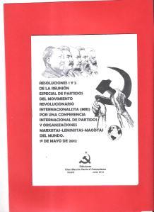 resoluciones 1 y 2 de reunion especial partidos mri 1 Mayo 2012