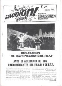 Accion FRAP Octubre 1975