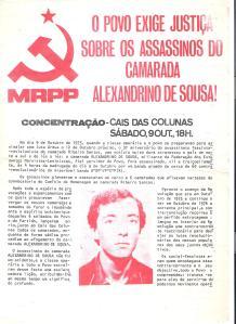 ALEXANDRINO DE SOUSA HOJA MRPP 1976