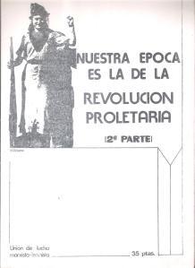 union de lucha m l nuestra epoca revolucion proletaria
