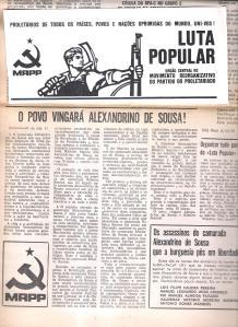 Luta Popular O povo vingará Alexandrino de Sousa