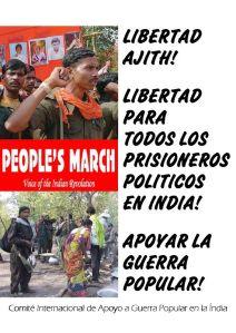 Crtel CIAGPI libertad presos politicos Ajith junio 2015